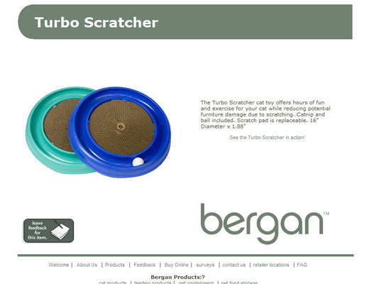 bergan Cat Scratching Pad and Toy