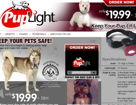 pup light Puplight Dog Collar