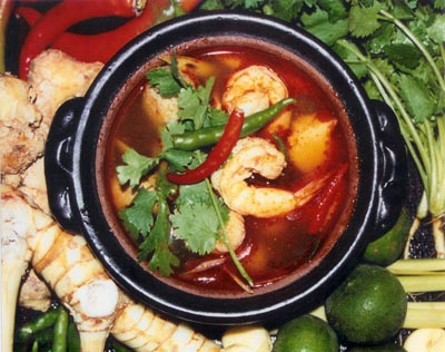 prawn hot pot 400w 316h Kaffir Lime