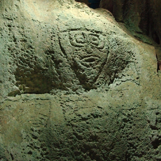 east timor cave mask John Brush Ancient Rock Art found in Australia